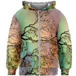 Rainbow Branch Boxer Shorts Kids Zipper Hoodie Without Drawstring