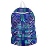 Blue Celtic Knot Square Foldable Lightweight Backpack