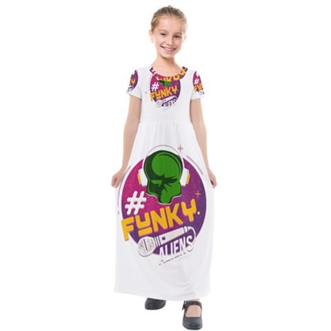 Kids  Short Sleeve Maxi Dress