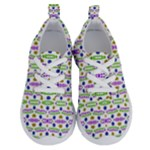 Retro Blue Purple Green Olive Dot Pattern Running Shoes
