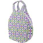 Retro Blue Purple Green Olive Dot Pattern Travel Backpacks