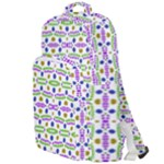 Retro Blue Purple Green Olive Dot Pattern Double Compartment Backpack