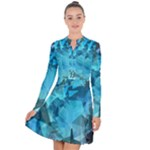 Song Sung Blue Long Sleeve Panel Dress
