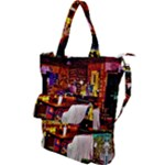 PAINTED HOUSE Shoulder Tote Bag