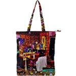 PAINTED HOUSE Double Zip Up Tote Bag
