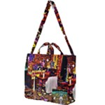 PAINTED HOUSE Square Shoulder Tote Bag