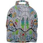 Supersonic volcano snowman Mini Full Print Backpack