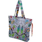 Supersonic volcano snowman Drawstring Tote Bag