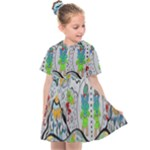 Supersonic volcano snowman Kids  Sailor Dress