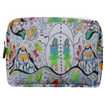 Supersonic volcano snowman Make Up Pouch (Medium)