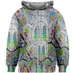 Supersonic volcano snowman Kids Zipper Hoodie Without Drawstring