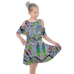 Supersonic volcano snowman Kids  Shoulder Cutout Chiffon Dress