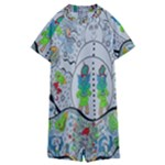 Supersonic volcano snowman Kids  Boyleg Half Suit Swimwear