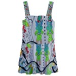 Supersonic volcano snowman Kids  Layered Skirt Swimsuit