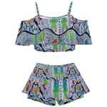 Supersonic volcano snowman Kids  Off Shoulder Skirt Bikini