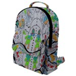 Supersonic volcano snowman Flap Pocket Backpack (Small)
