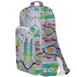 Supersonic volcano snowman Double Compartment Backpack