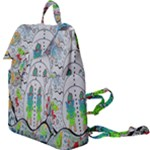 Supersonic volcano snowman Buckle Everyday Backpack