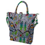 Supersonic volcano snowman Buckle Top Tote Bag