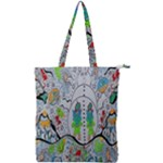 Supersonic volcano snowman Double Zip Up Tote Bag
