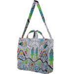 Supersonic volcano snowman Square Shoulder Tote Bag