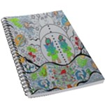 Supersonic volcano snowman 5.5  x 8.5  Notebook New