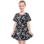 Fancy Floral Pattern Kids  Smock Dress