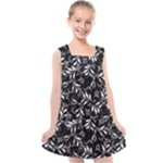 Fancy Floral Pattern Kids  Cross Back Dress