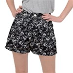 Fancy Floral Pattern Stretch Ripstop Shorts