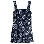 Fancy Floral Pattern Kids  Layered Skirt Swimsuit