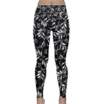 Fancy Floral Pattern Lightweight Velour Classic Yoga Leggings