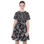 Fancy Floral Pattern Sailor Dress
