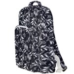 Fancy Floral Pattern Double Compartment Backpack