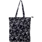 Fancy Floral Pattern Double Zip Up Tote Bag