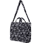 Fancy Floral Pattern Square Shoulder Tote Bag