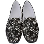 Fancy Floral Pattern Women s Classic Loafer Heels