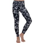 Fancy Floral Pattern Kids  Lightweight Velour Classic Yoga Leggings