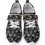 Fancy Floral Pattern Men s Velcro Strap Shoes