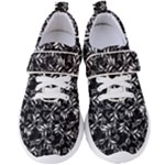 Fancy Floral Pattern Women s Velcro Strap Shoes
