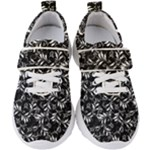 Fancy Floral Pattern Kids  Velcro Strap Shoes