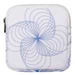 Spirograph Pattern Drawing Mini Square Pouch