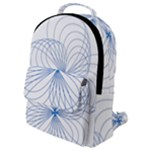 Spirograph Pattern Drawing Flap Pocket Backpack (Small)