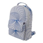 Spirograph Pattern Drawing Flap Pocket Backpack (Large)
