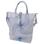 Spirograph Pattern Drawing Buckle Top Tote Bag
