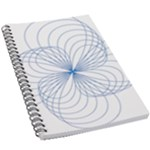 Spirograph Pattern Drawing 5.5  x 8.5  Notebook