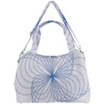 Spirograph Pattern Drawing Double Compartment Shoulder Bag