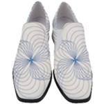 Spirograph Pattern Drawing Slip On Heel Loafers