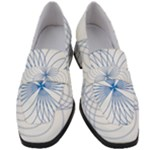 Spirograph Pattern Drawing Women s Chunky Heel Loafers