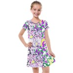 Sketchlines01 Kids  Cross Web Dress