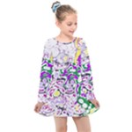 Sketchlines01 Kids  Long Sleeve Dress